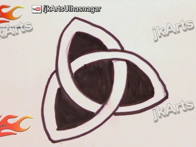 """How To Draw The Ancient Celtic Symbol """"TRIQUETRA"""" (Trinity Knot)  - JK Arts 013"""