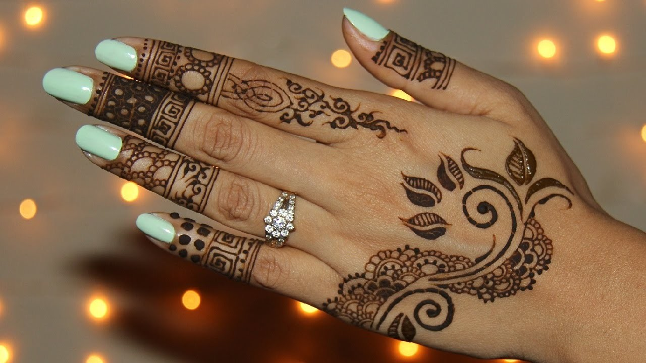 How To Draw Unique Henna.Mehendi Design
