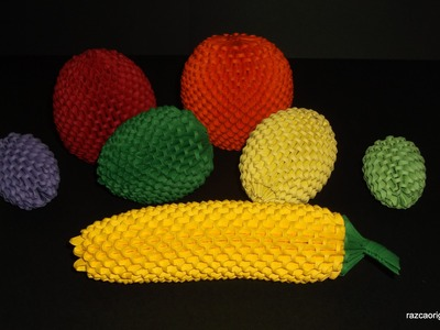 How to make 3d origami banana  fruit