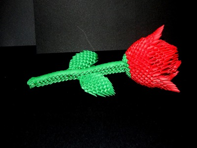 How to make 3d origami Rose part1