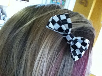 How to Make a Small Duct Tape Barrette Hair Bow