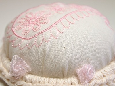 How to Make a Vintage Style Embroidered Pincushion with an Embroidery Hoop