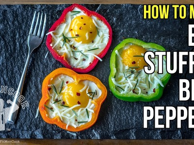 How to Make Awesome Egg-Stuffed Bell Peppers. Como Preparar Pimiento Relleno de Huevo