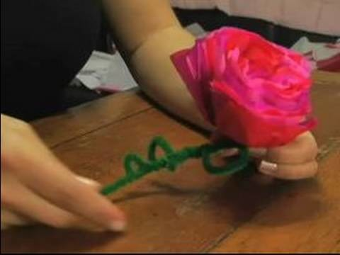 How to Make Valentine's Day Gifts : How to Make a Paper Rose for Valentine's Day