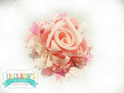 It's GUEST weekend! Ribbon Rose tutorial (hairbow how to)