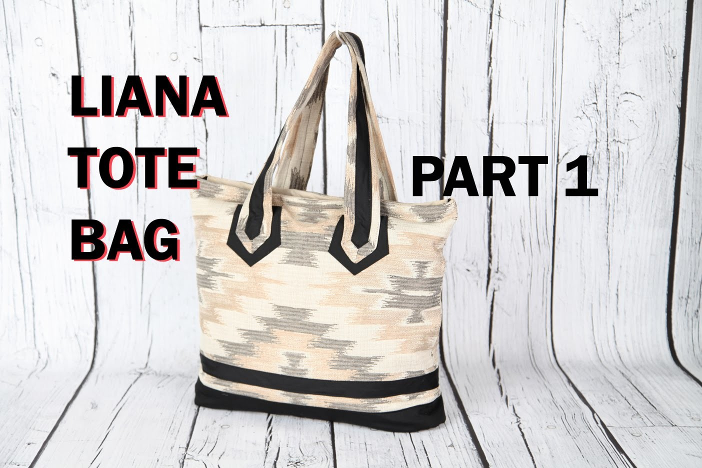 LIANA 1 - HAND BAG TOTEBAG - ZIP POCKETS. DIY Bag Vol 23A