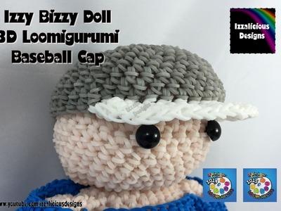Loomigurumi Izzy Bizzy Doll - Baseball Cap - hook only - amigurumi with Rainbow Loom Bands