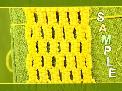 Macrame ABC - pattern sample #2