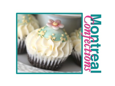 Mini domed cupcake toppers - Vintage tea party cupcakes