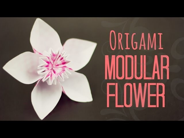 Modular flower origami instructions