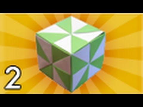 Origami Pinwheel Cube (Folding Instructions) - Part 2