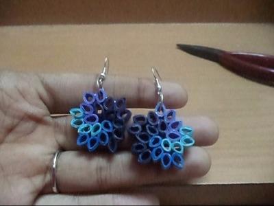 Quilling Earrings: Easy spiral flower