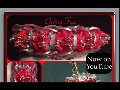 Rainbow Loom Band Cherry Fizz Bracelet Tutorial.How To