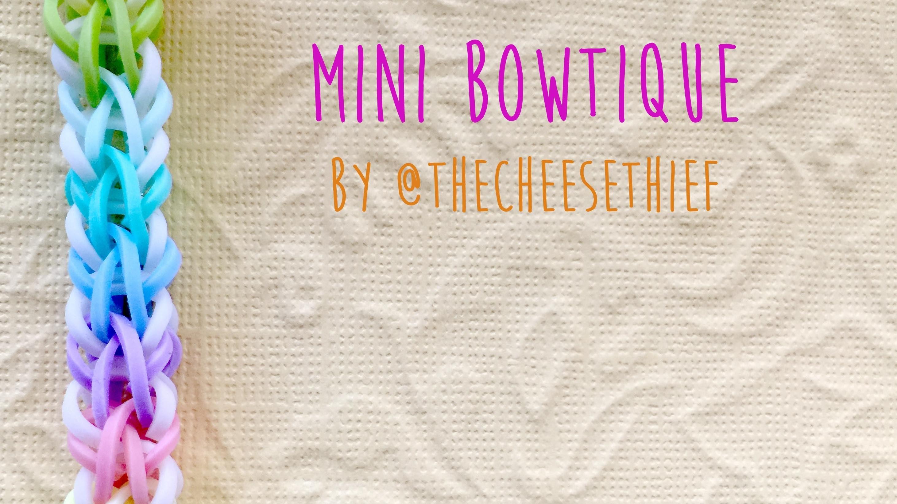 Rainbow Loom Bands Mini Bowtique Bracelet Tutorial