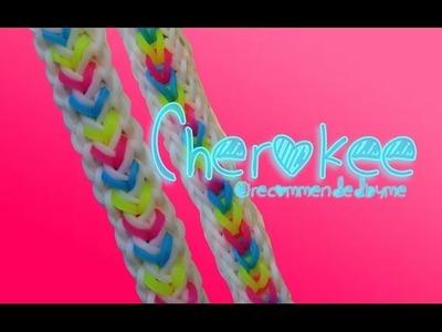 Rainbow loom-Cherokee bracelet-How to