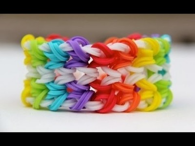 Rainbow Loom - Double Miami Bracelet (Original Design) - English Tutorial - Loom bands