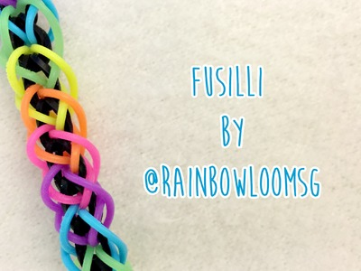 Rainbow Loom: Fusilli Bracelet by RainbowLoomSG (2 Peg, no hook tutorial)