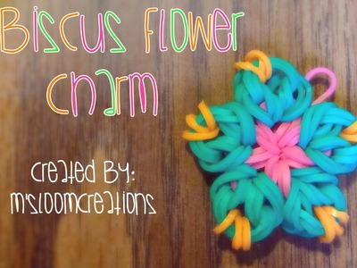 Rainbow Loom: Hibiscus Flower Charm Tutorial | HOOK ONLY