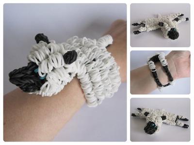 Rainbow Loom sheep bracelet Loombicious