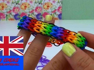 Rainbow loom triple single bracelet without loom - How to make a Triple Single with forks