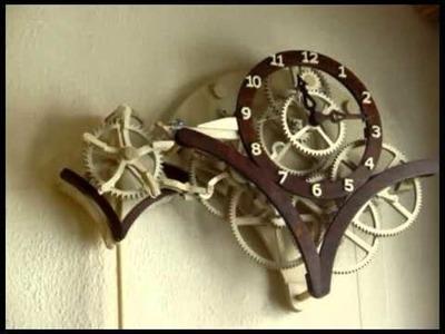 Reloj artesanal de péndulo con canicas - Marble based mechanical homemade clock