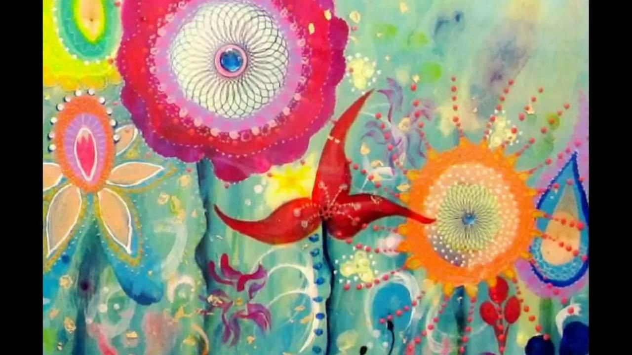 Sea Garden - mixed media painting by Wyanne