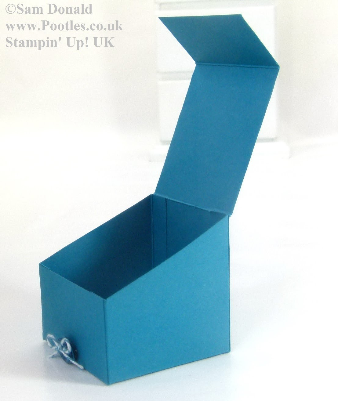 Stampin' Up! UK Sloping Sided Gift Treat Box REVISITED