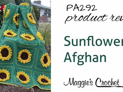 Sunflower Afghan Crochet Pattern PA292