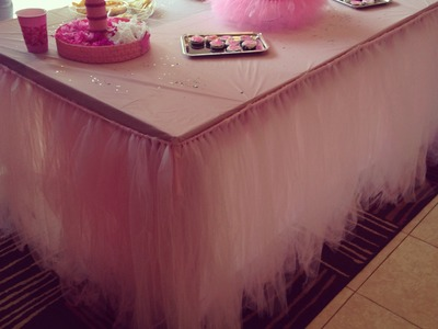 Table tutu skirt tutorial