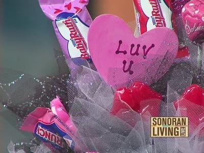Terri O makes a candy bouquet