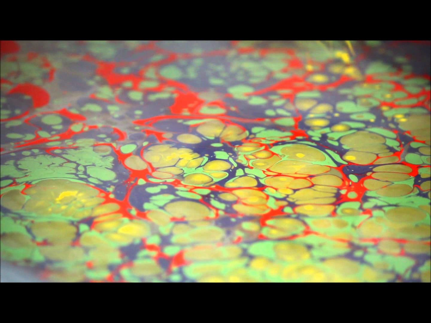The traditional art of Ebru (Paper Marbling) done in the US