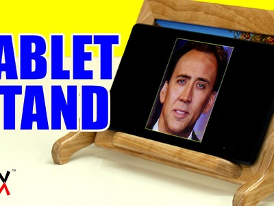 This adjustable tablet stand for your desk is also a photo frame