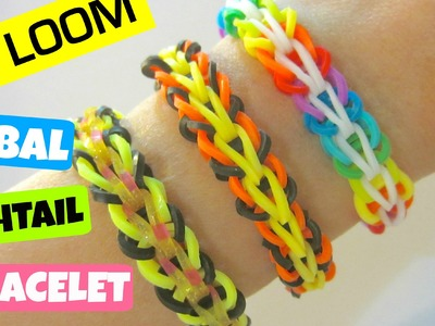 Tribal Fishtail Rainbow Loom Bracelet without a Loom. using 2 Pencils