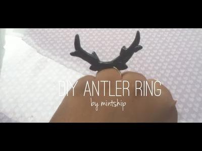 Tutorial - Deer Antler Ring [Polymer Clay]