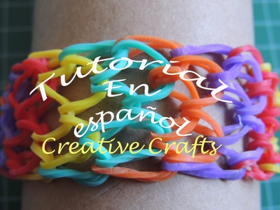 Tutorial pulsera de gomitas en español escamas de dragón, Rainbow Loom Dragon Scale.
