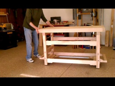 Workbench with Drop Caster Wheels