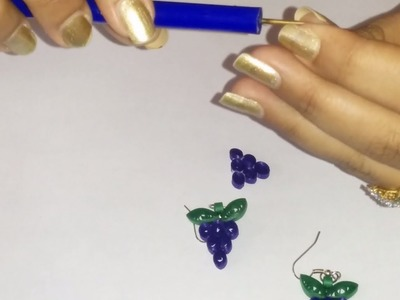 26. How to make Quilling Grape Earrings