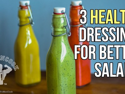 3 Healthy Homemade Dressings to Make Your Salad Pop. 3 Aderezos Caseros y Saludables