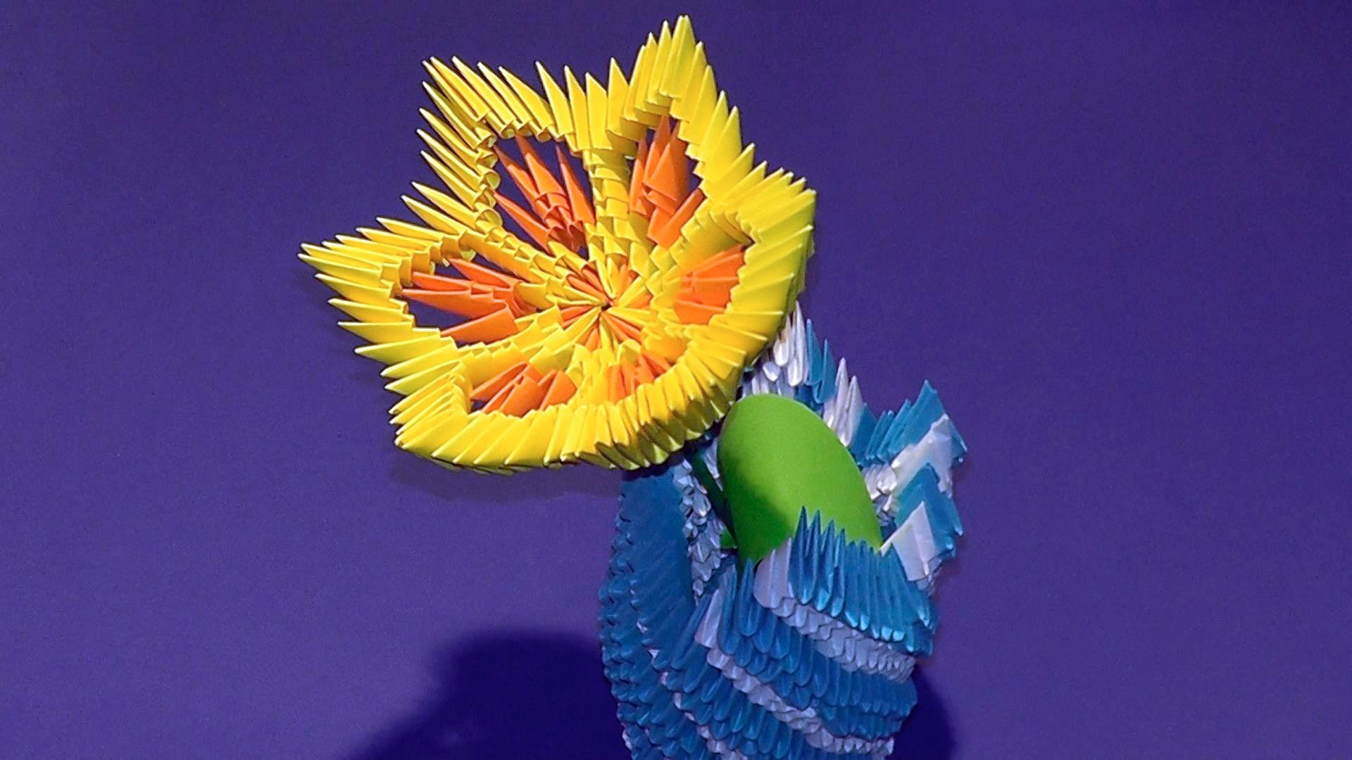 3d Origami Flower Lily Lotus Tutorial