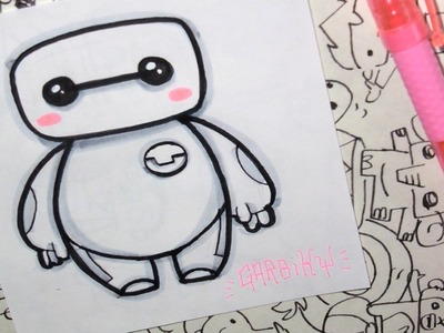 Baymax from Big Hero 6 - How To Draw Chibis and Kawaii Characters by Garbi KW
