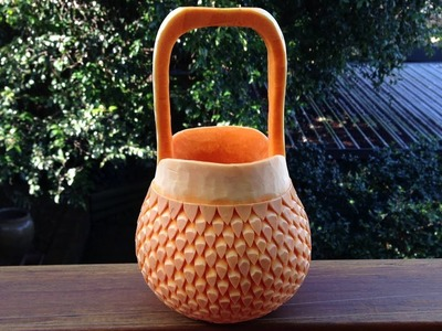 Beautiful Handbag Basket Pumpkin - Int Lesson 7 By Mutita The Art Of Fruit And Vegetable Carving