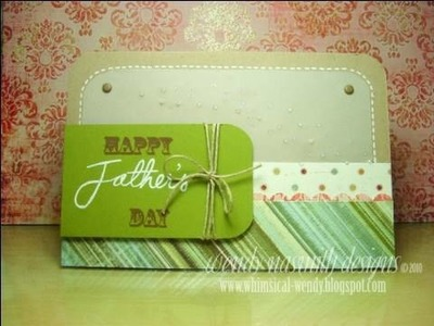 Card Tutorial - Happy Father's Day