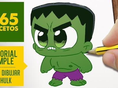 COMO DIBUJAR HULK KAWAII PASO A PASO - Kawaii facil - How to draw Hulk