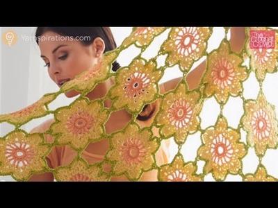 Crochet Garden Flowers Shawl: Part 1 of 2