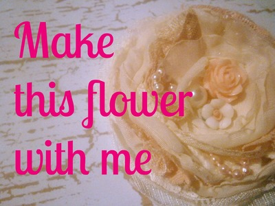D.I.Y Make this beautiful flower with me :)