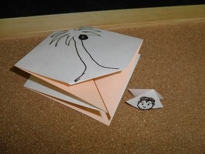 Daily Origami:  270 - Magic Monkey Climbing Tree