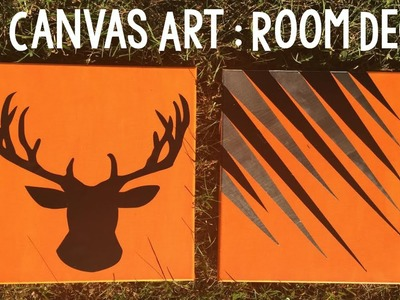 DIY Canvas Art | DIY Room Decor