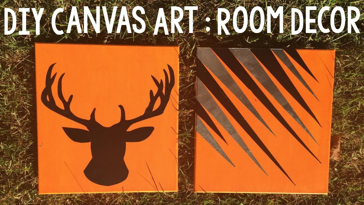 DIY Canvas Art | DIY Room Decor