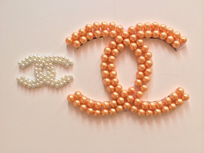 DIY:Chanel inspired pearl logo