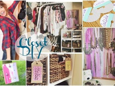 DIY Closet Organization   Tumblr.Pinterest Inspired!